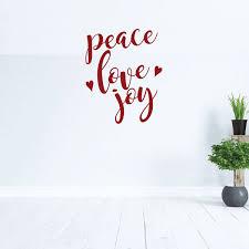 Love Wall Decal Peace Vinyl Decor Wall Decal Customvinyldecor Com