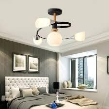 curve bedroom semi flush ceiling light