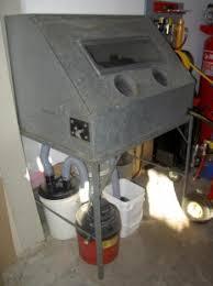 homemade sandblasting cabinet
