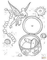 Tinkerbell Opent Muziekdoosje Kleurplaat Gratis Kleurplaten Printen