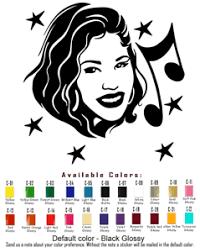 Selena Vinyl Decal Sticker Car Window Singer Actress Music Fashion American Idol Ebay