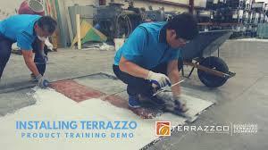 installing an terrazzo floor
