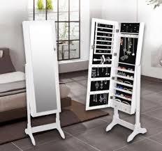 mirror jewellery standing cabinet