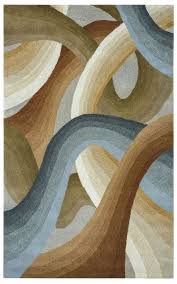 colours abstract swirl wool area rug in