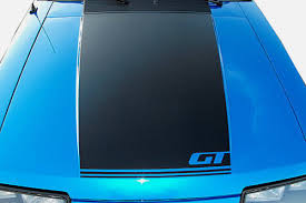 Product 1979 1993 Ford Mustang Gt Hood Stripe Decal Fox Body Any Color 80 81 91 92