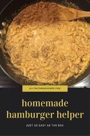 homemade hamburger helper recipe all