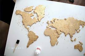 Diy World Map Wall Art That Is Easy To Make And Unique Smitha Katti