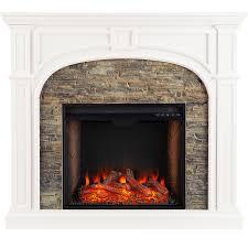 tanaya stacked stone electric fireplace