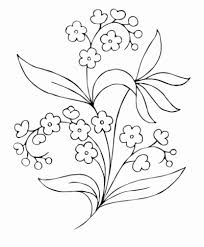 black and white flower free clipart