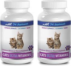 Amazon.com : PET SUPPLEMENTS cat Heart Health - Cats Ultra Vitamins -  Premium Vitamins and Minerals - CHEWABLE - cat Vitamin b Supplement - 2  Bottle (240 Chews) : Pet Supplies