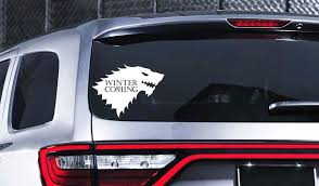 Winter Is Coming Window Car Decal Game Of Thrones Decal Stark Etsy