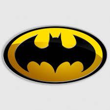 Batman Super Hero Dark Knight Yellow Oval Decal