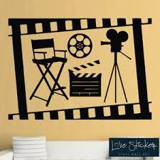 Wall Stickers Cinema Movie Film Roll Camera Cool Living Room Art Decals Vinyl Ebay