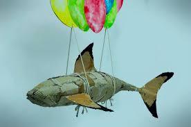 A Lifesize Shark Named Frank; Cardboard/Paint: 5ˈx2ˈ - Soshiwall