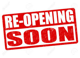 Re-opening Soon Grunge Rubber Stamp On White Background, Vector ...