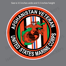 Afghanistan Veteran Marine Corp Usmc Bumper Sticker Window Decal