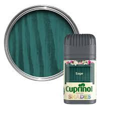 Cuprinol Garden Shades Sage Matt Wood Paint Tester Pot Departments Diy At B Q