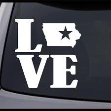 3 Pack Iowa State Map Ia Home State Star Permanent Vinyl Decal Bumper Sticker Ebay