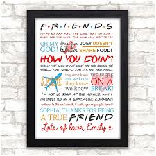 personalised friends tv show quotes birthday gift present sign