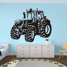 Amazon Com Wall Stickers Murals Farm Driving Tractor Wall Sticker Nursery Kids Room Cartoon Tractor Truck Car Vehicle Wall Decal Playroom Vinyl Decor 56x37cm Kitchen Dining