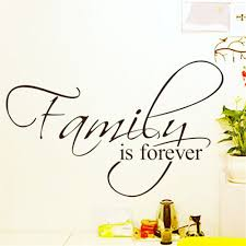 wall sticker home decor family forever quotes saying decals house