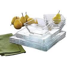 tsr 12 set glass dinnerware set