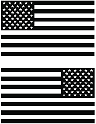 Amazon Com Usa Subdued Single Color American Flag 50 Stars 2 Vinyl Die Cut Decals Includes Standard And Reversed Designs Small Black Arts Crafts Sewing
