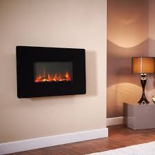 wall mounted electric fireplace glass