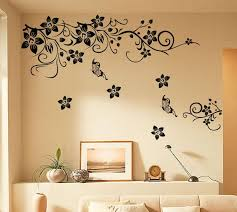 Black Flowers Vine Wall Art Mural Decor Living Room Bedroom Background Wall Decal Sticker Home Decor Wall Applique Poster Art Wall Decal Art Wall Decals From Magicforwall 2 79 Dhgate Com