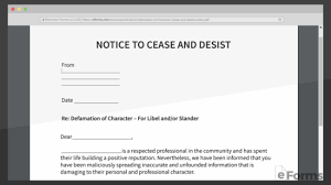 free defamation slander libel cease