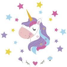 Magical Unicorn Fantasy Children Wall Stickers Diy Art Nursery Kids Girls Room Decorations Walmart Com Walmart Com