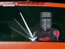 The Black Knight Waving Sword Decal Wipertag For Rear Windshield Wiper Wipertags