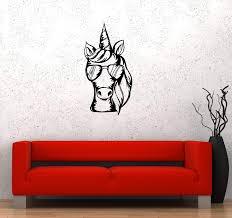 Wall Decal Unicorn Sunglasses Animal Fantasy Fairy Tale Vinyl Sticker Wallstickers4you