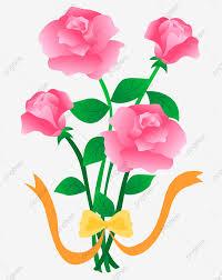 وردة الكرتون وردة زهرة وردة مرسومة باليد وردة وردة حمراء وردة