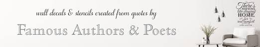 Famous Quote Decals Vinyl Wall Transfer Designs Of Famous Poems Quotes