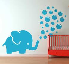 Elephant Blowing Bubbles Wall Sticker Tenstickers