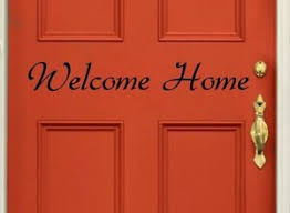 Welcome Home Wall Vinyl Decal Sticker Family Kids Room Door Decal Lettering Ebay