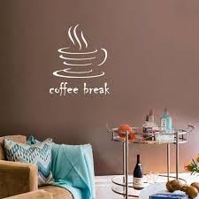 Creative Coffee Break Wall Sticker Living Room Bedroom Cafe Decoration Mural Art Decals Wallpaper Home Decor Stickers Wall Stickers Aliexpress