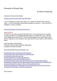 chronicles of wasted time pdf ebooks by malcolm