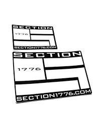 5x8 Die Cut Window Decal Section 1776