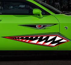 Product Shark Teeth Flying Tiger Vinyl Sticker Decal Graphic Car War Plane Boat Canoe