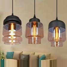 rustic glass pendant light european bar