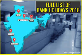 bank holidays 2018 in india check