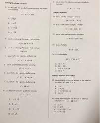 solved solving quadratic equations 9