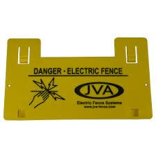 Jva Electric Fence Warning Sign X 5 Jva Store