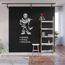 Spooky Scary Skeleton Undertale Wall Mural By Blippx Society6