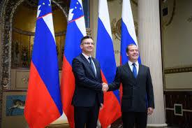 Slovenian PM Marjan Šarec meets with Russian Prime Minister Dmitry Medvedev  | GOV.SI