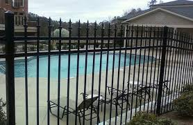 Black Vinyl Picket Fence For Swimming Pools Security
