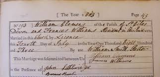 Marriage - William Clemens to Frances Williams