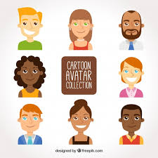 funny cartoon avatars free vector